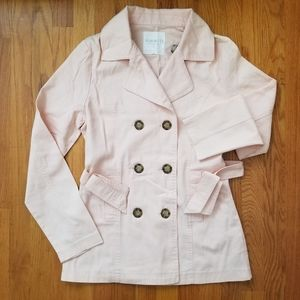 NWOT Forever 21 Casual Peach Trench Coat